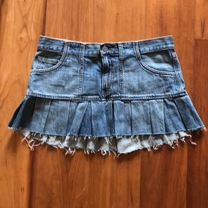 Abercrombie and Fitch Denim Flare Miniskirt